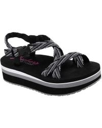 8bb503f7793b Lyst - Skechers Whip It Carnivale Flatform Sandal in Black - Save 40%