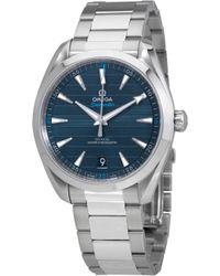 Omega - Seamaster Aqua Terra Blue Dial Automatic Watch 220.10.41.21.03.001 - Lyst