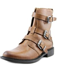Vince Camuto - Raegel Round Toe Synthetic Ankle Boot - Lyst