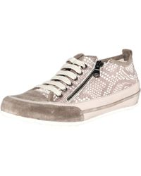 Charles David - Charles By Angela Lace Up Fashion Sneaker Grey - Lyst