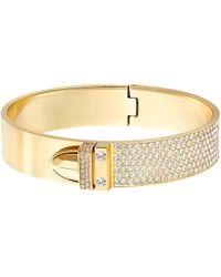Swarovski | Gold-tone Pvd Crystal Pave Buckle Bangle Bracelet | Lyst