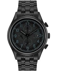 Citizen - Men's Eco-drive Chronograph Black Stainless Steel Bracelet Watch 42mm Ca0625-55e - Lyst