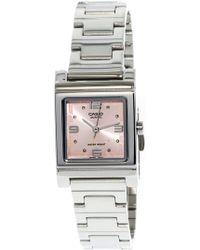 G-Shock - Core Ltp1237d-4a Stainless-steel Quartz Fashion Watch - Lyst