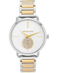 28144027422c Michael Kors - Mk3679  portia  Stainless Steel Crystal Pave White Dial  Bracelet Watch -