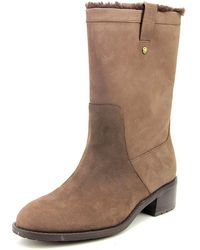 Cole Haan - Jessup Wp Women Round Toe Leather Mid Calf Boot - Lyst