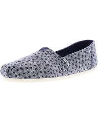 TOMS - Classic Slub Chambray Ankle-high Canvas Flat Shoe - 6m - Lyst