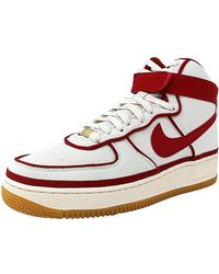 lyst nike 315121 700: air force di alto 2007 basket scarpa d'oro