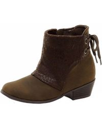 Jessica Simpson - Girl's Leo Fashion Brown Ankle Boots Shoes Sz: 13 - Lyst