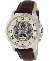 Fossil | Grant Me3027 White Dial Watch | Lyst