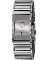 Rado - Integral Jubile Ceramic And Stainless Steel R20732122 Watch Mirror Effect Bezel Date Calendar Quartz - Lyst