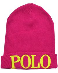 Polo Ralph Lauren | Polo Embroidered Beanie-mink Pink | Lyst