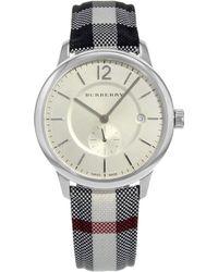Burberry - The Classic Round Bu10002 Stainless Steel Quartz Unisex Watch - Lyst