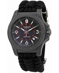 Victorinox - I.n.o.x. Carbon Black Dial Paracord Watch 241776 - Lyst