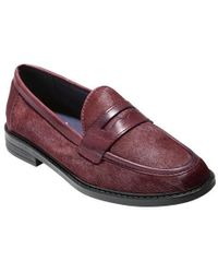 e007256fbf3 Lyst - Cole Haan Pinch Campus Penny Loafer in Purple