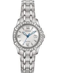 Citizen - Women's Eco-drive Diamond Accent Stainless Steel Bracelet Watch 26mm Ew2360-51a - Lyst