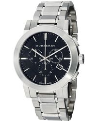 Burberry Bu9351 Large Check Stainless Steel Bracelet Watch Lyst