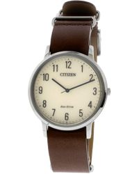 Bj6501-28a Leather Eco-drive Dress Watch