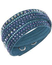 Swarovski - Crystal Stripe Double Wrap Bracelet - Lyst