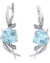 Drukker Designs | Sterling Silver Blue Topaz Oval Earrings | Lyst
