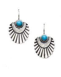 Meltdown Studio Jewelry - Turquoise Shield Earrings - Lyst