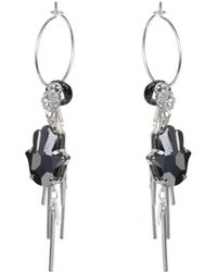 Nadia Minkoff - Silver Hamsa Hoop Cluster Earrings - Lyst