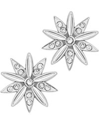 London Road Jewellery - Portobello White Gold Diamond Velvet Leaf Cluster Stud Earrings - Lyst