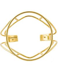 Glenda López - 18kt Gold Dipped Empty Signet Bracelet - Lyst