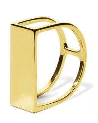 Carao Jewelry - Timeless Ring Yellow Gold Plated - Lyst