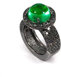 baerjewels - Columbian Emerald Cabochon Ring - Lyst
