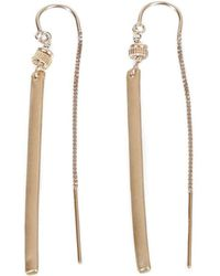 Verve Jewelry - Sugar - All Gold-short Threader Earrings - Lyst
