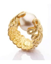 Brigitte Adolph Jewellery Design - Pique Dame Yellow Gold Ring - Lyst