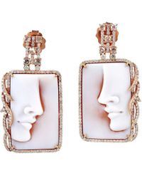 Socheec - Poise Cameo Earring - Lyst