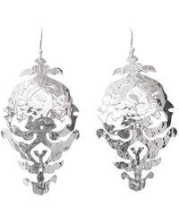 Murkani Jewellery - Empire Silver Drop Earrings - Lyst