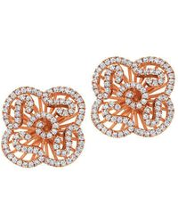 Fei Liu - Cascade Mini Earring Studs In 18kt Rose Gold Plate - Lyst