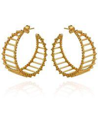 Cara Tonkin - Gold Theda Stripe Hoop Earrings - Lyst