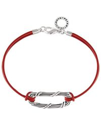 Peter Thomas Roth Fine Jewelry - Link Bracelet Sterling Silver And Red Leather - Lyst