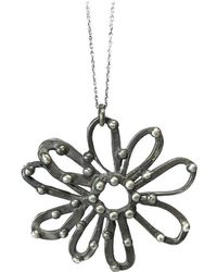 Private Opening - Large Sterling Silver Oxidized Daisy Pendant - Lyst