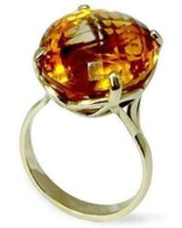 Serena Fox - Infinity Yellow Gold And Citrine Ring - Lyst