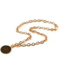 Rina Limor - Sunrise Coin Pendant Necklace - Lyst