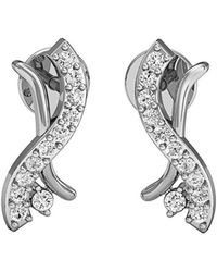 Diamoire Jewels 14kt White Gold Pave Stud Earrings with 10 Premium Diamonds WdCBURm