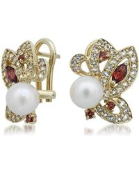 Drukker Designs - Yellow Gold Pearl Earrings - Lyst