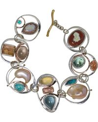 Lainey Papageorge Designs - Sunny Day At The Beach Orbit Bracelet - Lyst