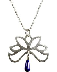 Sima Vaziry - Half Bloom Lapis Necklace - Lyst