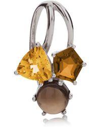 MANJA Jewellery - Kintana Citrine, Cognac Quartz & Smoky Quartz Pendant - Lyst