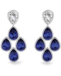 MARCELLO RICCIO - Blue Sapphire Diamond Earrings - Lyst