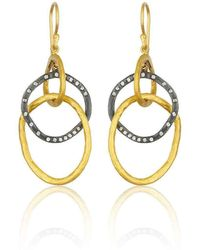 """Lika Behar Collection - Gold And Oxidised Silver """"kelly"""" Earrings - Lyst"""