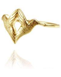 Jana Reinhardt Jewellery - Gold Plated Silver Wing Ear Studs - Lyst
