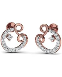 Diamoire Jewels 14kt Rose Gold and SI3 Premium Round Shape Diamonds in a Pave Earrings bpqSTcoinQ