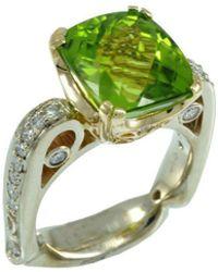 Alex Gulko Custom Jewelry - Peridot White Gold Ring - Lyst