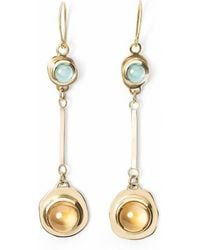 Susan Driver - One And Only Citrine And Swiss Topaz Drop Earrings - Lyst